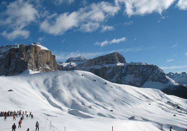 Landscape of Alleghe, ski resort in Italy