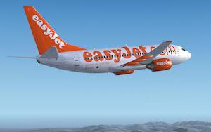 Easyjet Airbus flying