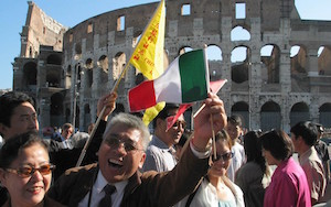 Chinese tourists in Italy