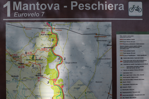 Bike paths in Italy: Mantua - Peschiera