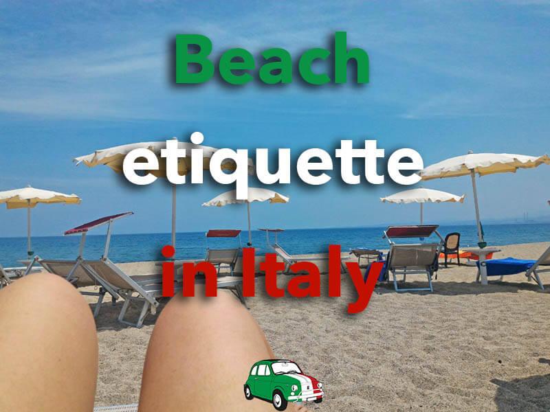 Beach etiquette Italy