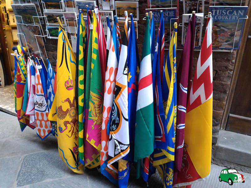 Palio di Siena facts: contrade flags